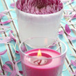 Flower and candle — Stock Photo #4498705