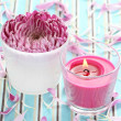 Flower and candle — Stock Photo #4498765