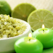 Lime bath salt — Stock Photo #4505907