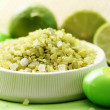 Lime bath salt — Stock Photo #4505908