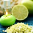 Lime bath salt — Stock Photo #4505926