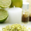 Lime bath salt — Stock Photo #4505952
