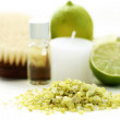 Lime bath salt — Stock Photo #4505957