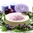 Lavender body care — Stock Photo