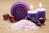 Lavender body care — Stock Photo