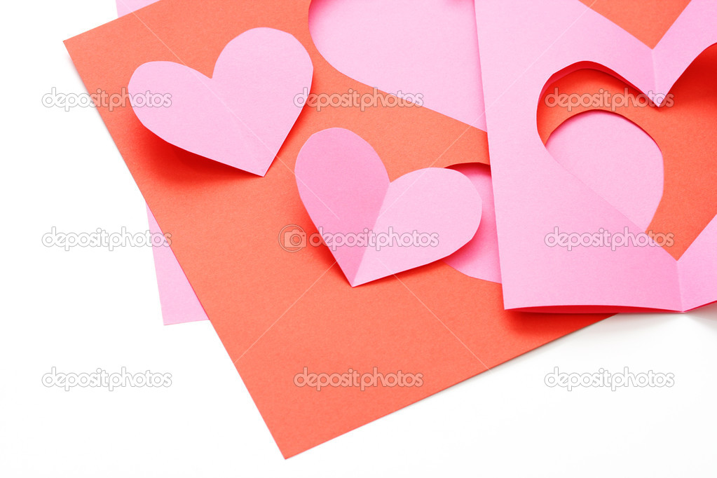 Everything you need to make some Valentine card  Stock Photo #4506405