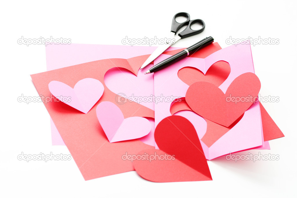 Everything you need to make some Valentine card — Stock Photo #4506409