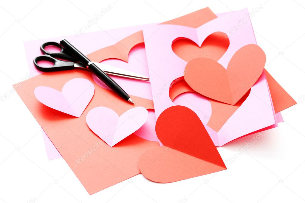 Everything you need to make some Valentine card  Stock Photo #4506411