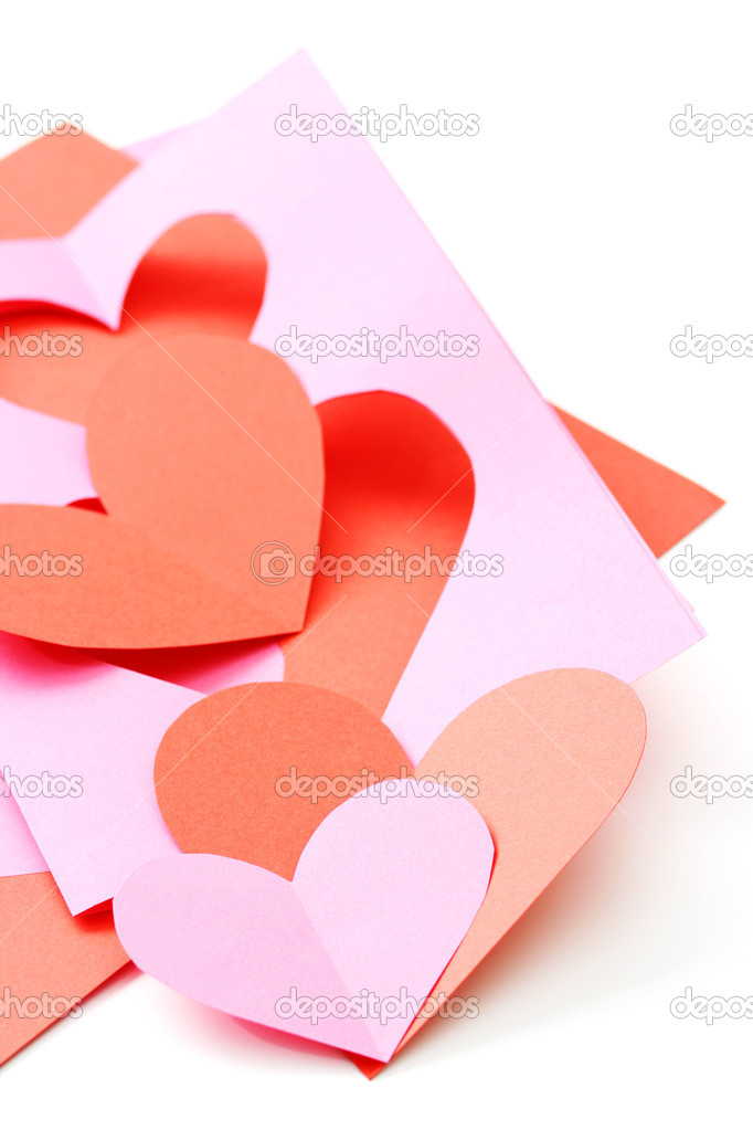 Everything you need to make some Valentine card — Stock Photo #4506418