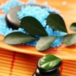 Blue bath salt — Stock Photo #4513937