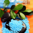 Blue bath salt - Stock Photo