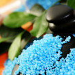 Blue bath salt — Stock Photo #4514077
