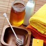 Honey and milk spa — Stock Photo #4523603