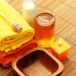 Honey and milk spa — Stock Photo #4523641