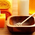 Honey and milk spa — Stock Photo