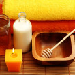 Honey and milk spa — Stock Photo #4523717