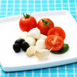 Royalty-Free Stock Photo: Mozzarella and cherry tomatoes