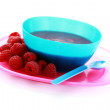 Royalty-Free Stock Photo: Raspberries - baby food