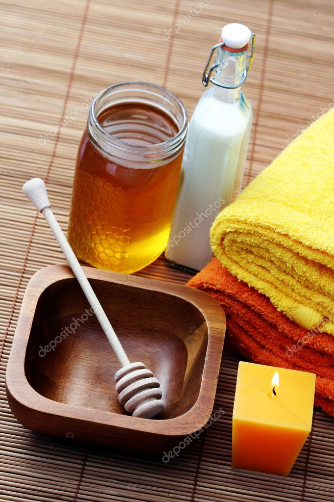 Honey and milk spa - beauty treatment  Stock Photo #4523603