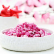 Pink bath salt — Stock Photo