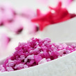 Pink bath salt — Stock Photo #4534817