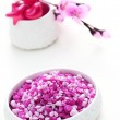 Pink bath salt — Stock Photo #4534848