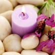 Candle and lavender — Stock Photo #4541564