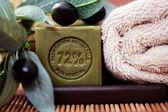 Olive oil soap — Stock Photo