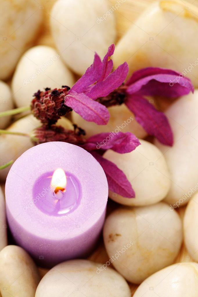 Candle and lavender — Stock Photo © Monika Adamczyk #