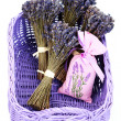 Basket with lavender — Stock Photo