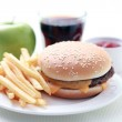 Cheeseburger and french fries — Stock Photo #4577432