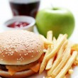 Cheeseburger and french fries — Stock Photo #4577449
