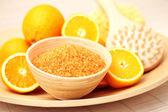 Orange bath salt — Stock Photo