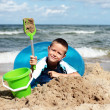 Playing in the sand — Stock Photo #4581380