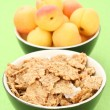 Musli and apricots — Stock Photo