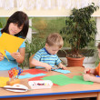 Preschoolers and manual skills — Stock Photo #4603344