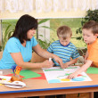 Preschoolers and manual skills — Stock Photo #4603370