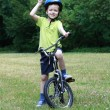Preschooler and bike — Stock Photo #4605617