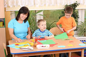 Preschoolers and manual skills — Stock Photo