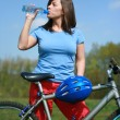 Stok fotoğraf: Woman and bike