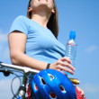 Woman and bike — Stockfoto #4610074