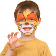 Boy with painted face — Stock Photo #4610559