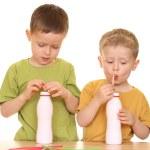 Drinking milk — Stock Photo #4614876