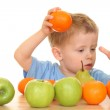 Playing with fruits — Stock Photo #4615556