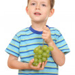 Boy and grapes — Stock Photo #4616677