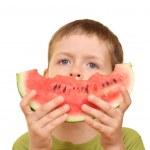 Boy and watermelon — Stock Photo #4616717