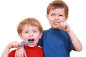 清洁牙齿 — 图库照片