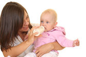 Feeding baby — Stock Photo