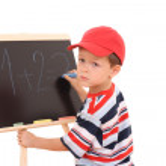 Blackboard and child — Stock Photo #4627845