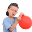 Blowing up balloon — Stock Photo #4628016
